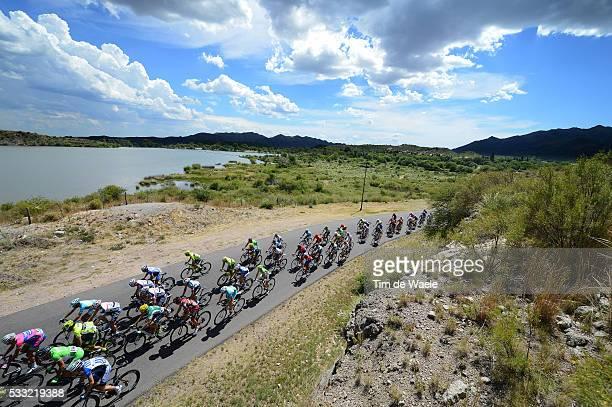 7th Tour de San Luis 2013 / Stage 7 Illustration Illustratie / Peleton Peloton / Lac Lake Meer / Landscape Paysage Landschap / Clouds Nuages Wolken /...