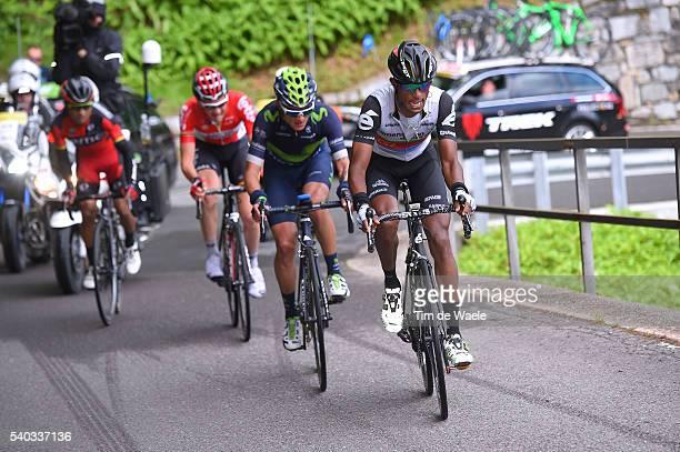 80th Tour of Swiss 2016 / Stage 5 Natnael BERHANE / Winner ANACONA GOMEZ / Tim WELLENS / John Darwin ATAPUMA / BrigGlis Cari 1626m / TDS /