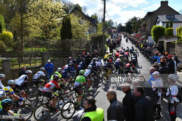 81st La Fleche Wallonne 2017 / Men Landscape / Peloton / Grand Place de Binche Mur de Huy / Waalse Pijl / Men /