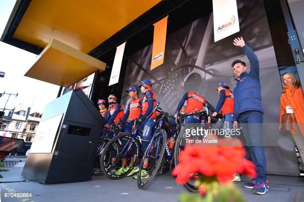 81st La Fleche Wallonne 2017 Men Start Podium / Joaquim RODRIGUEZ / Team Bahrain Merida / Binche Mur de Huy / Waalse Pijl /