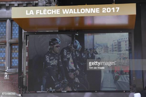 81st La Fleche Wallonne 2017 / Men Start / Podium / Michal KWIATKOWSKI / Owain DOULL / Tao HART GEOGHEGAN / Michal GOLAS / Sebastian HENAO / Sergio...
