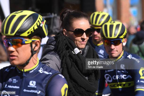 81st La Fleche Wallonne 2017 Men Taryn KIRBY PR Press Officer team Orica Scott / Binche Mur de Huy / Waalse Pijl /