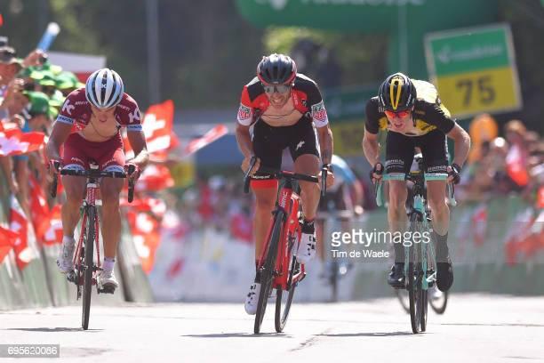 81st Tour of Switzerland 2017 / Stage 4 Arrival / Damiano CARUSO / Steven KRUIJSWIJK / Simon SPILAK / Bern VillarssurOllon 1327m / TDS/