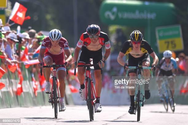 81st Tour of Switzerland 2017 / Stage 4 Arrival / Simon SPILAK / Damiano CARUSO / Steven KRUIJSWIJK / Bern VillarssurOllon 1327m / TDS/