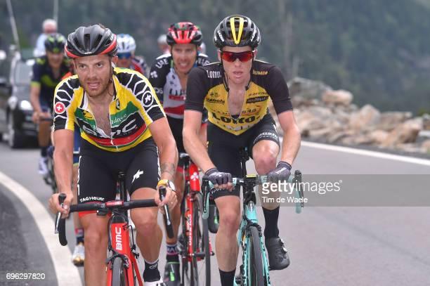 81st Tour of Switzerland 2017 / Stage 6 Damiano CARUSO Yellow Leader Jersey / Steven KRUIJSWIJK / Locarno La Punt Chamuesch 1695m / TDS/