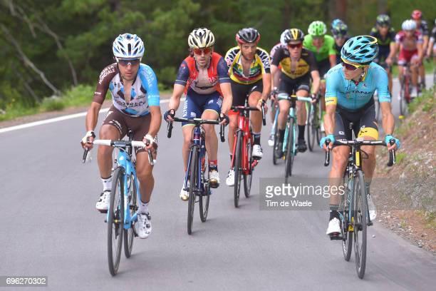 81st Tour of Switzerland 2017 / Stage 6 Domenico POZZOVIVO / Jon IZAGUIRRE INSAUSTI / Damiano CARUSO Yellow Leader Jersey / Steven KRUIJSWIJK / Pello...
