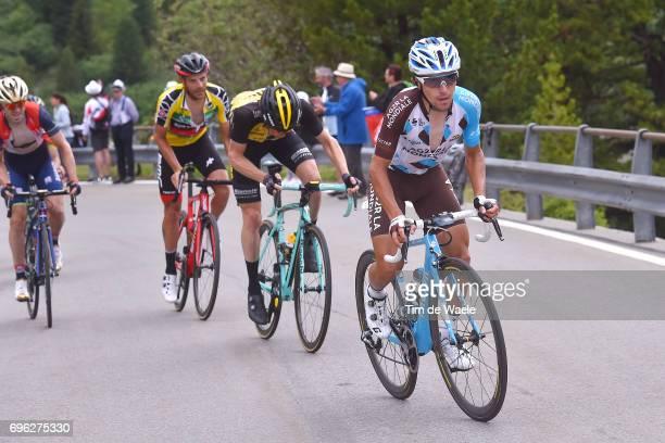 81st Tour of Switzerland 2017 / Stage 6 Domenico POZZOVIVO / Steven KRUIJSWIJK / Damiano CARUSO Yellow Leader Jersey / Jon IZAGUIRRE INSAUSTI /...