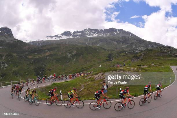 81st Tour of Switzerland 2017 / Stage 6 San Bernardino Mountains / BMC Racing Team / Landscape / Peloton / Damiano CARUSO Yellow Leader Jersey / Greg...
