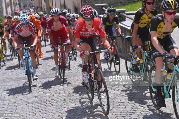 81st Tour of Switzerland 2017 / Stage 6 Steven KRUIJSWIJK / Bart DE CLERCQ / Alberto LOSADA / Mathias FRANK Red Best Swiss Rider Jersey/ Locarno La...