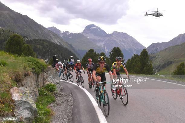 81st Tour of Switzerland 2017 / Stage 6 Steven KRUIJSWIJK / Damiano CARUSO Yellow Leader Jersey / Rui FARIA DA COSTA / Albulapass / Landscape /...