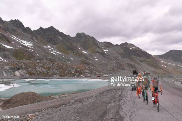 81st Tour of Switzerland 2017 / Stage 7 Damiano CARUSO / Steven KRUIJSWIJK / Jan HIRT / Landscape / Zernez SoldenTiefenbachferner 2780m / TDS/