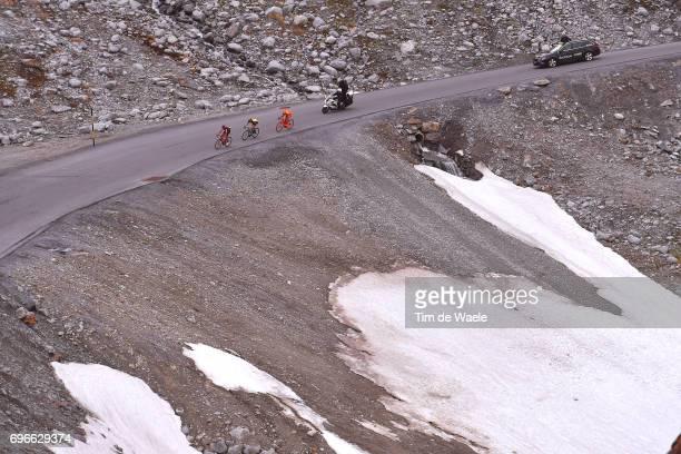 81st Tour of Switzerland 2017 / Stage 7 Damiano CARUSO / Steven KRUIJSWIJK / Jan HIRT / Landscape / Snow / Zernez SoldenTiefenbachferner 2780m / TDS/