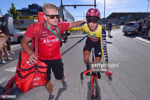 81st Tour of Switzerland 2017 / Stage 9 Arrival / Simon SPILAK Yellow Leader Jersey/ Celebration / Schaffhausen Schaffhausen / ITT/ Individual Time...