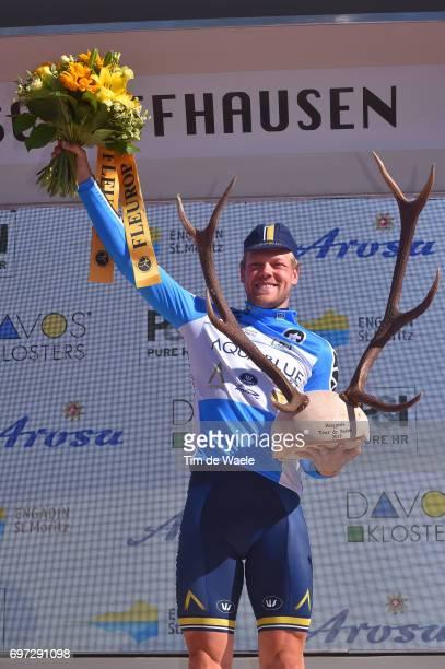 81st Tour of Switzerland 2017 / Stage 9 Podium / Lasse Norman HANSEN Blue Mountain Jersey/ Celebration / Trophy/ Schaffhausen Schaffhausen / ITT/...