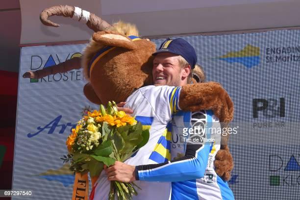 81st Tour of Switzerland 2017 / Stage 9 Podium / Lasse Norman HANSEN Blue Mountain Jersey/ Celebration / Mascot/ Schaffhausen Schaffhausen / ITT/...