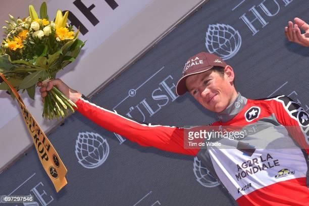 81st Tour of Switzerland 2017 / Stage 9 Podium / Mathias FRANK Red Best Swiss Rider Jersey/ Celebration / Schaffhausen Schaffhausen / ITT/ Individual...