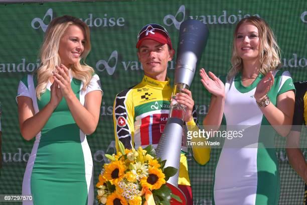 81st Tour of Switzerland 2017 / Stage 9 Podium / Simon SPILAK Yellow Leader Jersey/ Celebration / Trophy/ Schaffhausen Schaffhausen / ITT/ Individual...