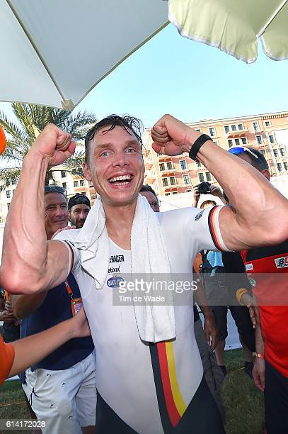 89th Road World Championships 2016 / Men Elite ITT Arrival / Tony MARTIN / Celebration / Lusail Sports Complex The Pearl Qatar / Individual Time...