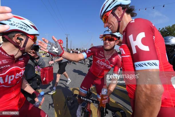 8th Tour of Oman 2017 / Stage 1 Arrival / Alexander KRISTOFF / Reto HOLLENSTEIN / Rein TAARAMAE / Celebration / Al Sawadi Beach Naseem Park /