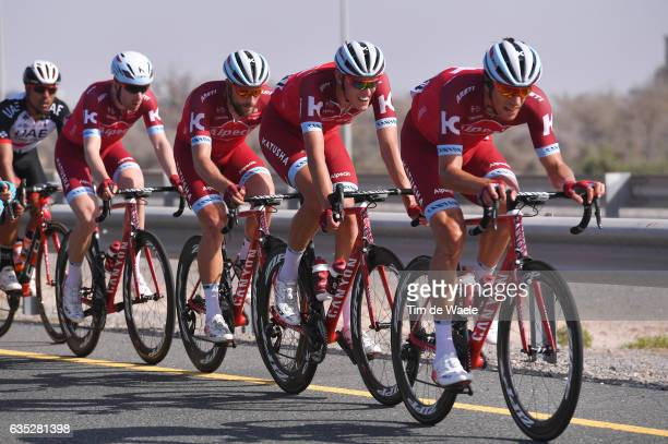 8th Tour of Oman 2017 / Stage 1 Reto HOLLENSTEIN / Nils POLITT / Marco HALLER / Michael MORKOV / Team Katusha Alpecin / Al Sawadi Beach Naseem Park /