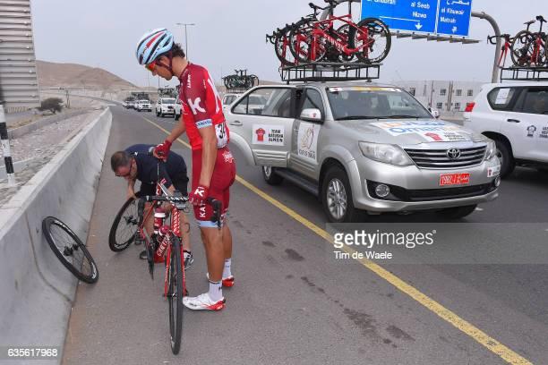 8th Tour of Oman 2017 / Stage 3 Reto HOLLENSTEIN / Mechanical problem/ Sultan Qaboos University Quriyat 250m /
