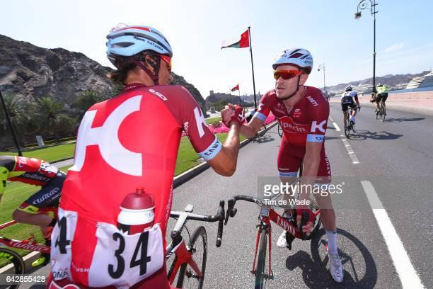 8th Tour of Oman 2017 / Stage 6 Arrival / Alexander KRISTOFF / Reto HOLLENSTEIN / Celebration / The Wave Muscat Matrah Corniche /