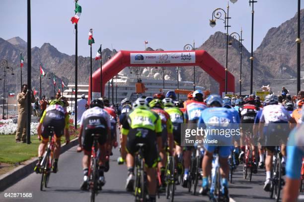 8th Tour of Oman 2017 / Stage 6 Finish / Peloton / Matrah Corniche / Muscat City / Landscape / The Wave Muscat Matrah Corniche /