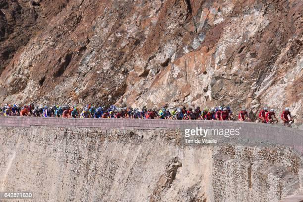 8th Tour of Oman 2017 / Stage 6 Peloton / Team Katusha Alpecin / Landscape / Mountains / The Wave Muscat Matrah Corniche /
