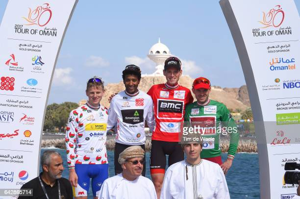8th Tour of Oman 2017 / Stage 6 Podium / Aime DE GENDT Most Aggressive Rider Jersey / Merhawi KUDUS White Young Jersey / Ben HERMANS Red Leader...