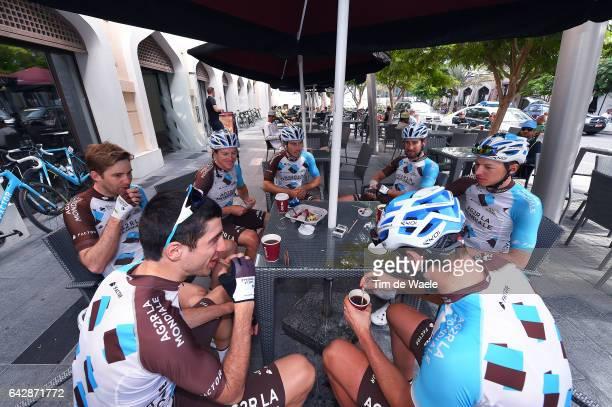 8th Tour of Oman 2017 / Stage 6 Team AG2R La Mondiale / Gediminas BAGDONAS / Axel DOMONT / Sondre Holst ENGER / Mathias FRANK / Alexis GOUGEARD /...