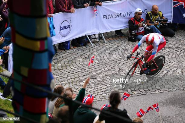 90th Road World Championships 2017 / ITT Men Elite Alexander EVTUSHENKO / Bergen Bergen Mount Floyen 316m / Individual Time Trial / ITT / Bergen /...