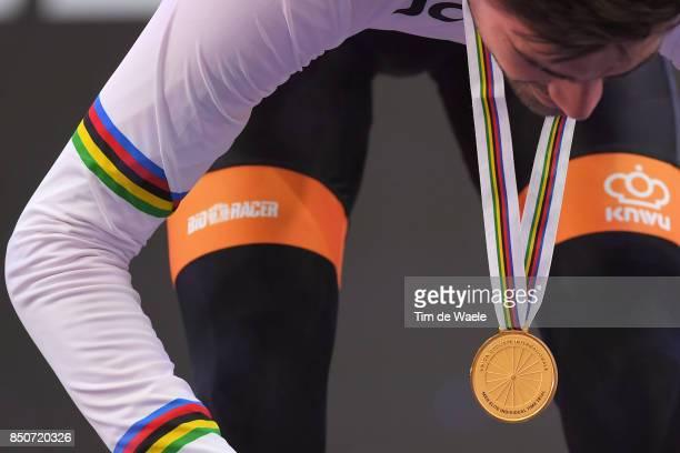 90th Road World Championships 2017 / ITT Men Elite Podium / Tom DUMOULIN / Gold Medal / Celebration / Bergen Bergen Mount Floyen 316m / Individual...