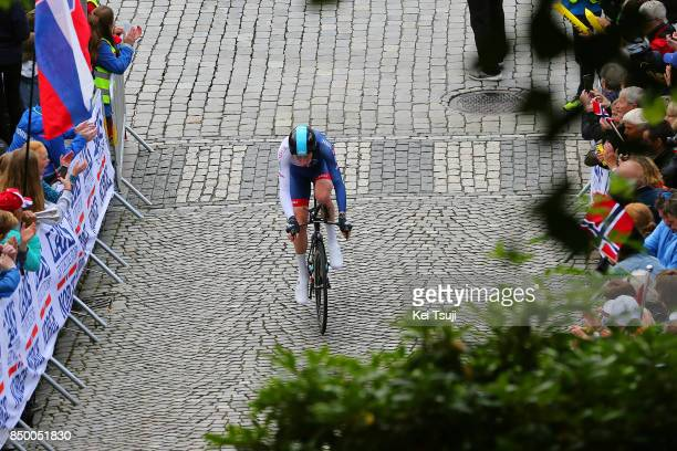 90th Road World Championships 2017 / ITT Men Elite Tao GEOGHEGAN HART / Injury / Crash / Bergen Bergen Mount Floyen 316m / Individual Time Trial /...