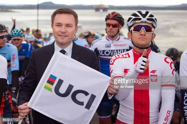 90th Road World Championships 2017 / Men Elite Road Race David LAPARTIEN UCI President / Michal KWIATKOWSKI / Bergen Bergen / RR / Bergen / RWC /...