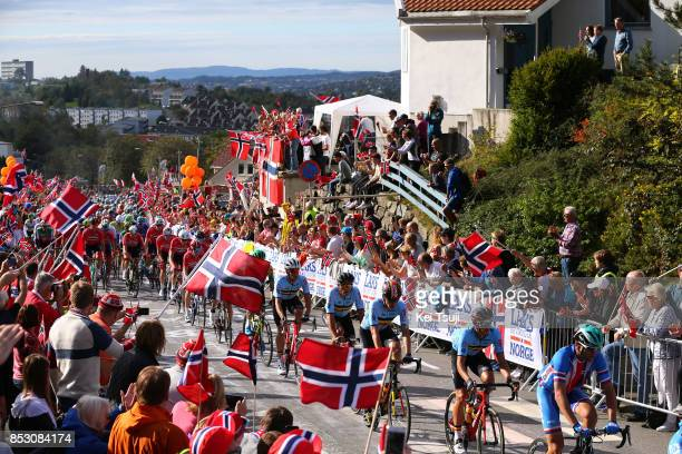 90th Road World Championships 2017 / Men Elite Road Race Dylan TEUNS / Oliver NAESEN / Greg VAN AVERMAET / Jasper STUYVEN / Team Belgium / Peloton /...