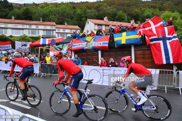 90th Road World Championships 2017 / Men Under 23 Road Race Kristoffer HALVORSEN / Tobias S FOSS / Syver Westgaard WAERSTED / Tean Norway / Bergen...