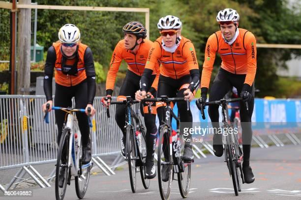 90th Road World Championships 2017 / Training Road Race Anna VAN DER BREGGEN / Tom DUMOULIN / Koen DE KORT / Team Netherlands / Training / RR /...