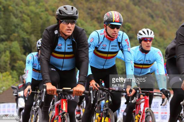90th Road World Championships 2017 / Training Road Race Greg VAN AVERMAET / Oliver NAESEN / Jasper STUYVEN / Training / RR / Bergen / RWC /