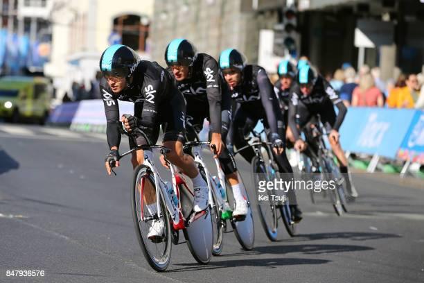 90th Road World Championships 2017 / Training TTT Michal KWIATKOWSKI / Gianni MOSCON / Team Sky / Team Time Trial / Training / Bergen / RWC /
