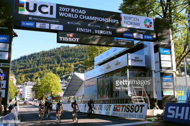 90th Road World Championships 2017 / Training TTT Owain DOULL / Christopher FROOME / Vasil KIRYIENKA / Michal KWIATKOWSKI / Gianni MOSCON / Geraint...