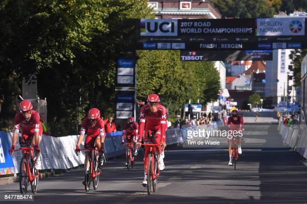 90th Road World Championships 2017 / Training TTT Reto HOLLENSTEIN / Alexander KRISTOFF / Tiago MACHADO / Tony MARTIN / Michael MORKOV / Nils POLITT...