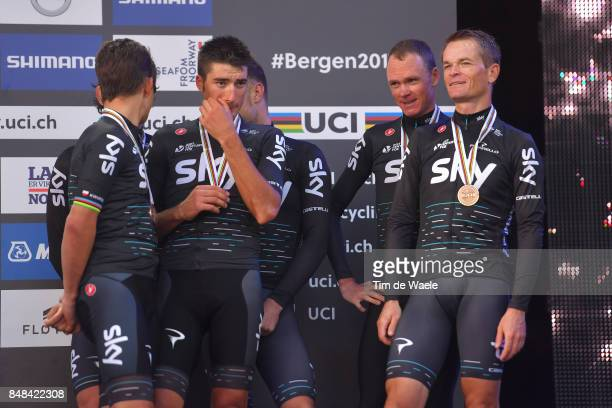 90th Road World Championships 2017 / TTT Men Elite Podium / Team Sky / Owain DOULL / Christopher FROOME / Vasil KIRYIENKA / Michal KWIATKOWSKI /...