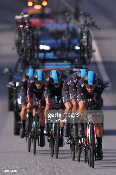 90th Road World Championships 2017 / TTT Men Elite Team Sky / Owain DOULL / Christopher FROOME / Vasil KIRYIENKA / Michal KWIATKOWSKI / Gianni MOSCON...