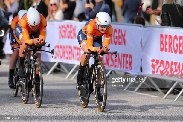 90th Road World Championships 2017 / TTT Women Elite KarolAnn CANUEL / Chantal BLAAK / Boels Dolmans Cyclingteam / Public / Fans / Ravnanger Bergen /...