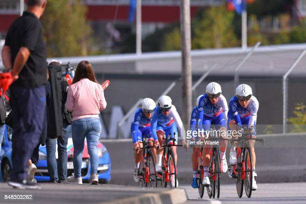 90th Road World Championships 2017 / TTT Women Elite Team FDJ Nouvelle Aquitaine Futuroscope / Aude BIANNIC / Coralie DEMAY / Eugenie DUVAL / Roxane...