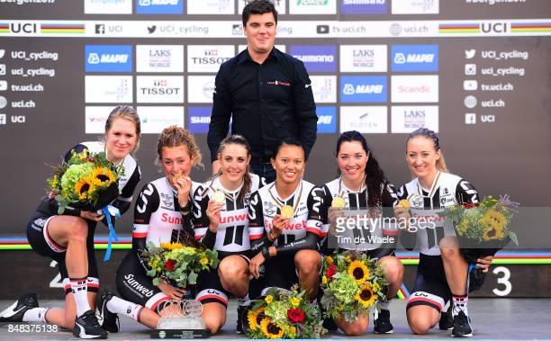 90th Road World Championships 2017 / TTT Women Elite Team Sunweb / Lucinda BRAND / Leah KIRCHMANN / Juliette LABOUS / Liane LIPPERT / Floortje...