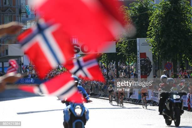 90th Road World Championships 2017 / Women Elite Road Race Hannah BARNES / Amy PIETERS / Rachel NEYLAN / Lucinda BRAND / Flags Bergen Bergen / RR /...