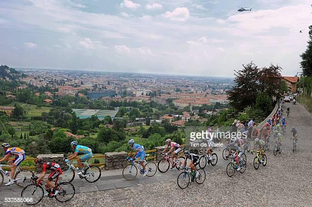 94th Giro Italia 2011/ Stage 18 Illustration Illustratie / ALTA BERGAMO City Ville Stad / Peleton Peloton / Landscape Paysage Landschap / Morbegno...