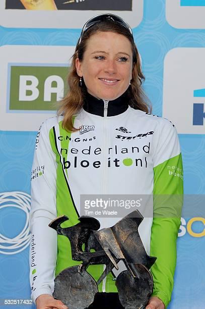95th Tour of Flanders 2011 / Women Podium / Annemiek Van Vleuten Celebration Joie Vreugde / Oudenaarde Ninove / Ronde van Vlaanderen / Tour des...