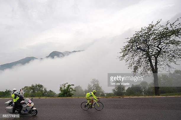 95th Tour of Italy 2012 / Stage 15 Matteo RABOTTINI / Illustration Illustratie / CULMMIE DI SAN PIETRO / Clowds Nuages Wolken Fog Brouillard Mist /...
